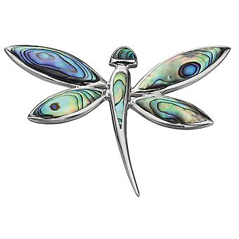 925 Silver Dragonfly Necklace Enamelled Fashionable