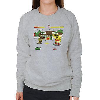 Springfield Fighter Street Fighter Simpsons Barney Zangief Apu Dhalism Women's Sweatshirt