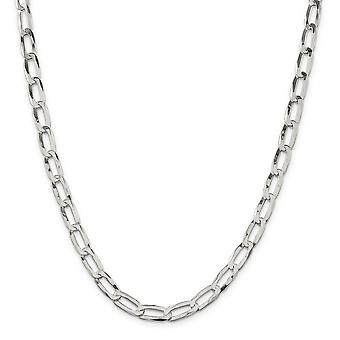 925 Sterling Silver Polished Lobster Claw Closure 7.15mm Chain Necklace Jewelry Gifts for Women - Length: 18 to 20