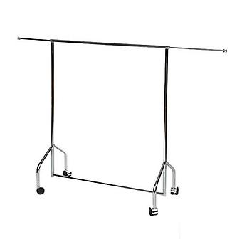 Chrome Mini Rail Adjustable Width H 102 W 81 to 142cm by Caraselle