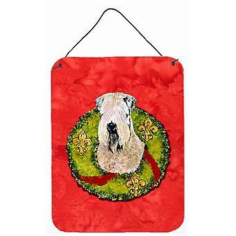 Wheaten Terrier Soft Coated Aluminium metalen wand of deur hangen Prints