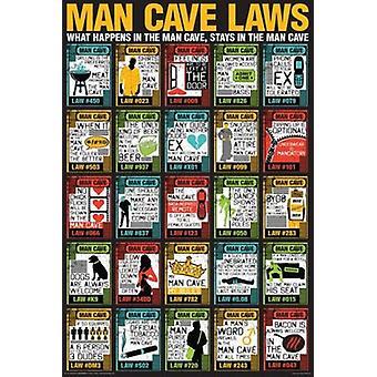 男の洞窟 - 洞窟男法律ポスター ポスター印刷