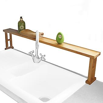 Woodquail Kitchen Over Sink Shelf Rack Made of Waterproof Bamboo