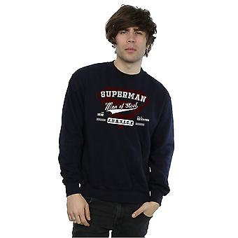 DC Comics Men's Superman Man Of Steel Sweatshirt