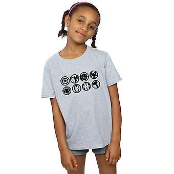 Marvel meisjes Avengers Team pictogrammen T-Shirt
