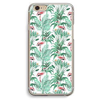 IPhone 6 6s transparant Case (Soft) - Flamingo verlaat
