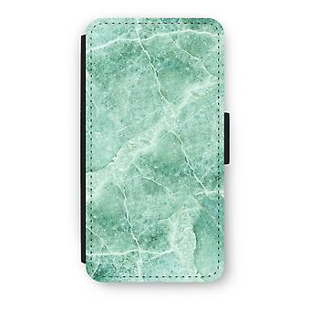 iPod Touch 6 Flip Case - Green marble