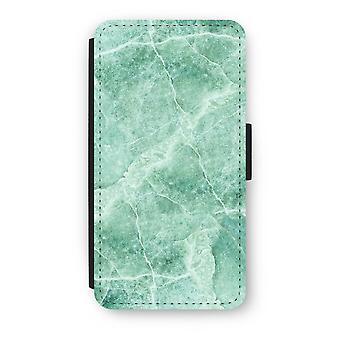 iPod Touch 6 Flip Case - grøn marmor