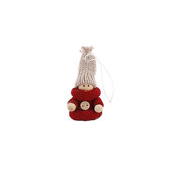 CGB cadeaux Noël Mini fille en bois suspendus décoration