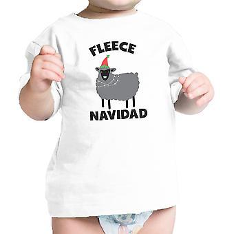 Vello Navidad infante regalo t-Shirt White