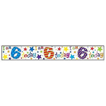 Simon Elvin Age 6 Birthday Foil Banner (6 Pack)