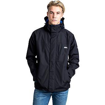 Edwardsii męskie Trespass z kapturem wodoodporna oddychająca kurtka płaszcz