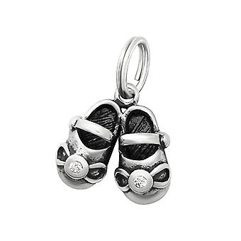 Shoes - 925 Sterling Silver Charms with Split ring - W29912X