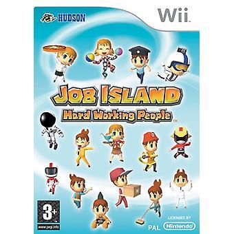 Job Island Hard Working People (Nintendo Wii) - New