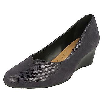 Ladies Van Dal Wedge Heel Shoes Hanover - Midnight Reptile Leather - UK Size 4.5EE - EU Size 37.5 - US Size 6.5