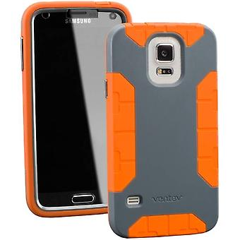 Ventev fortius Case for Samsung Galaxy S5 - Dark Grey/Orange