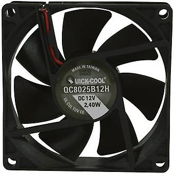 QuickCool QC8025B12H Eksenel fan 12 V DC 67,96 m³/h (L x W x H) 80 x 80 x 25 mm