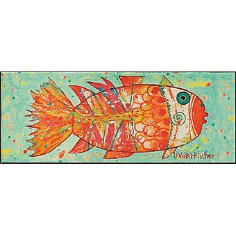 wash+dry Fußmatte Funky Fish 75 x 190 cm waschbare Fußmatte Schmutzmatte