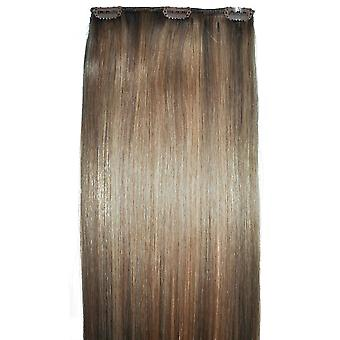 #8/18 Clip-in Hair Piece - #8/18 - Light Brunette with Golden Blonde Highlights