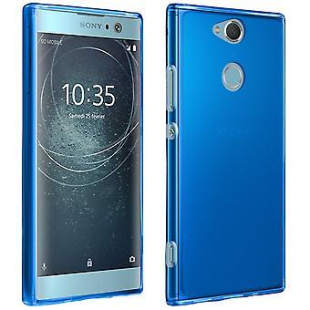 Custodia in silicone, lucido & opaco cover posteriore per Sony Xperia XA2 - blu
