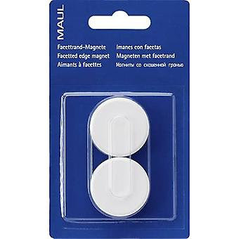Maul Magnet MAULpro (Ø x H) 34 mm x 13 mm Round, Facet edge White 2 pc(s) 6178202
