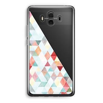 Huawei Mate 10 caso transparente (Soft) - pastel de triângulos coloridos