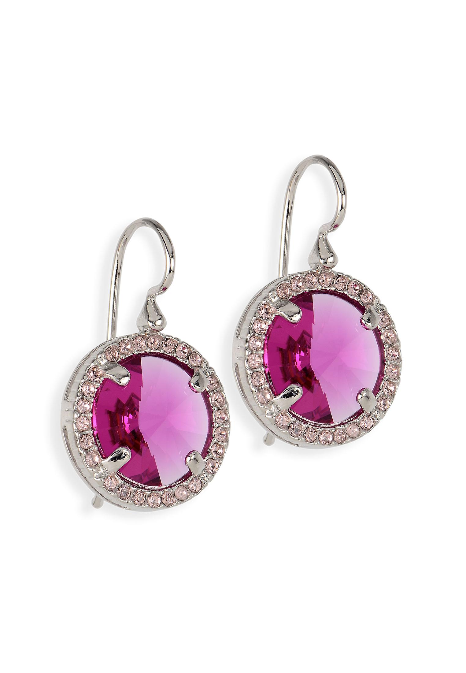 Pink earrings with crystals from Swarovski 402