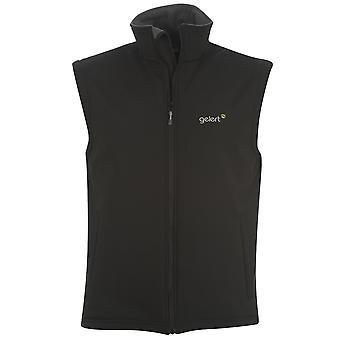 Gelert Mens Shell Gilet Bodywarmer Pockets Zip Fleece Inner Lining