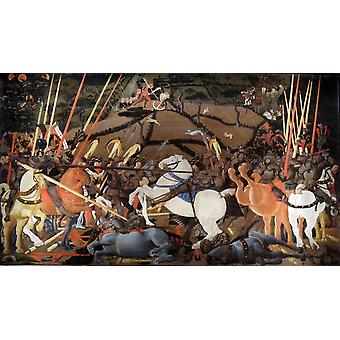 Teh slaget ved San Romano, Paolo Uccello, 80x40cm
