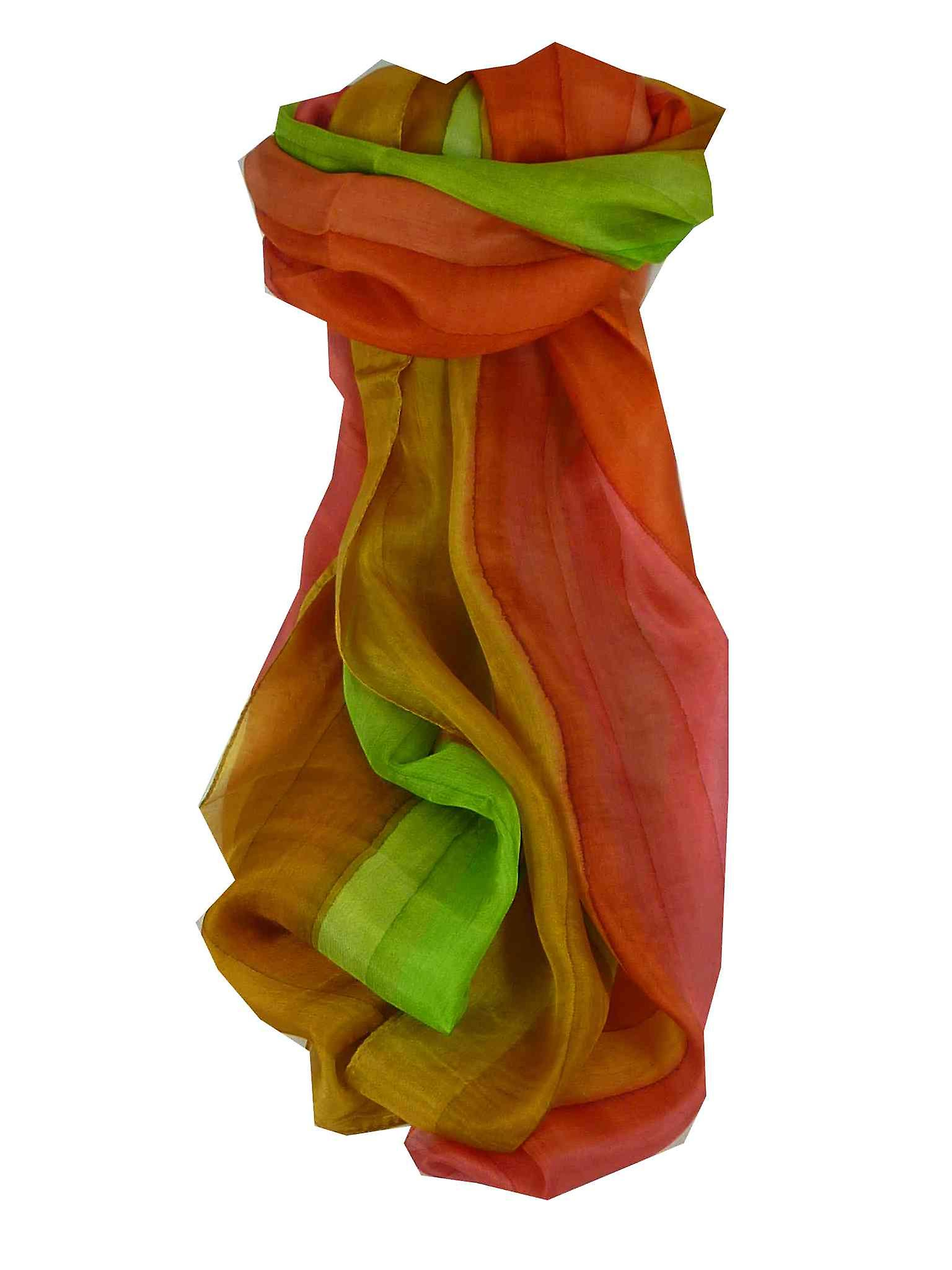 Mulberry Silk Hand Dyed Long Scarf Prakesh Rainbow Palette from Pashmina & Silk