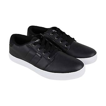 Osiris Mesa  Mens Black Leather Low Top Athletic Surf Skate Shoes