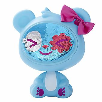 The Zequins Spark Blue Bear toy Figure doll with sequins