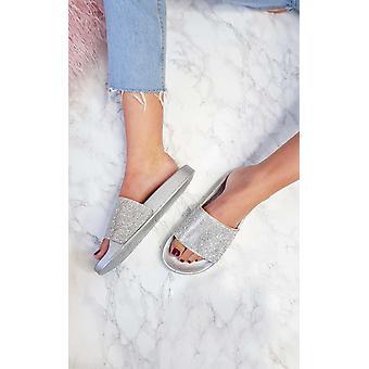 IKRUSH Womens Koko Diamante Sliders