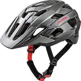 Alpina Anzana fiets helm / / darksilver / rood