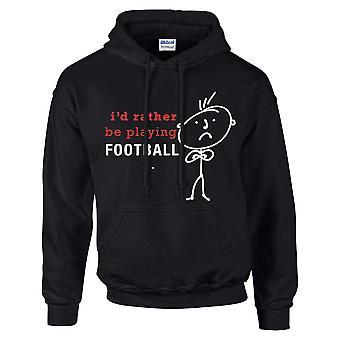 Miesten I pikemminkin Pelaa jalkapalloa huppari musta huppari