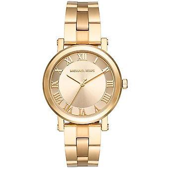 Michael Kors Norie Damen Womens Gold Tone Uhr MK3560