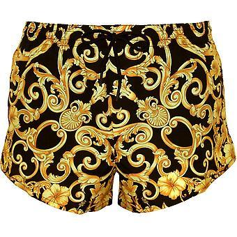 Versace барокко золотых больше длины плавки, черный/золото