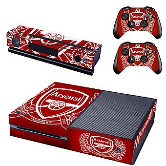 REYTID Arsenal Crest Compatible with Xbox One Console Skin / Sticker + 2 x Controller Decals & Kinect Wrap - Full Set