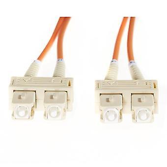 Sc Sc Om1 Multimode Fiberoptik kabel Orange
