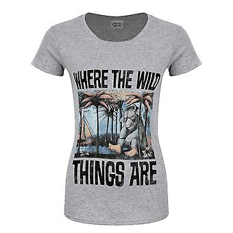 Where The Wild Things Are Womens/Ladies Book Cover T-Shirt