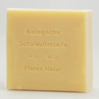 Florex biologisk fåre smør sæbe-Aloe Vera-naturlig Duftoplevelse 100 g