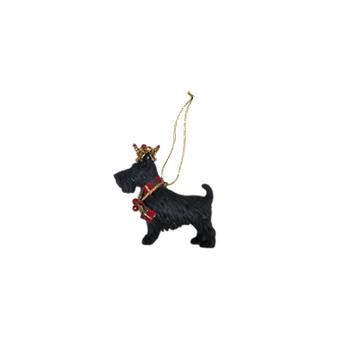 Gisela Graham Resin Scottie Dog Decoration