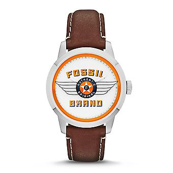 Fossiele Townman 30ste verjaardag Edition heren zilver & Brown Watch FS4896