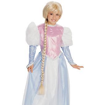 ラプンツェル プリンセスもつれた長いブロンドの三つ編みおとぎ話女の子衣装ウィッグ