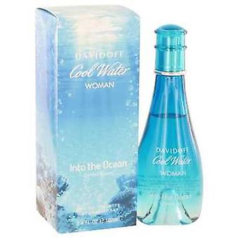 Cool Water Into The Ocean De Davidoff Eau De Toilette Spray 3.4 Oz (femmes) V728-502380