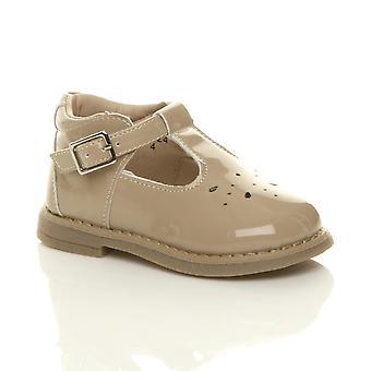 Ajvani Girls lasten pikkulasten taapero matala kantapää nahka t-Bar joustava puolue kengät