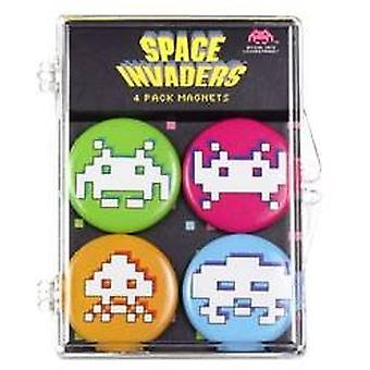 Magnet - Space Invaders - Set of 4 New Toys Licensed SIL113