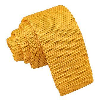 Goudsbloem geel gebreide stropdas voor jongens