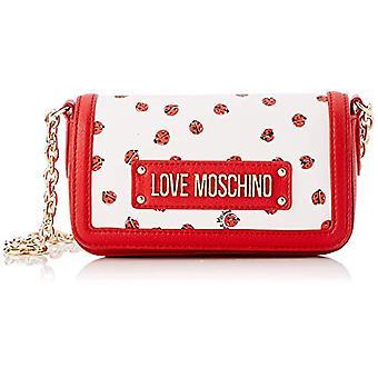 Liefde Moschino tas afdrukken SAFF. PU rode vrouw riem (Ros) 6x11x21 cm (b x H x L)