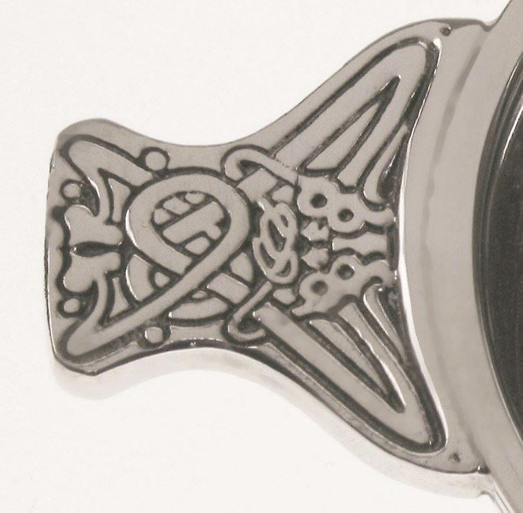 Pewter Quaich 70mm Silver Coloured Pewter Linear Banding